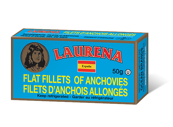 One can of Club Des Millionnaires Laurena Flat Filletes of Anchovies