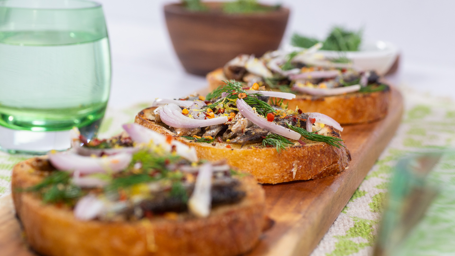 Spicy Sardines on Toast