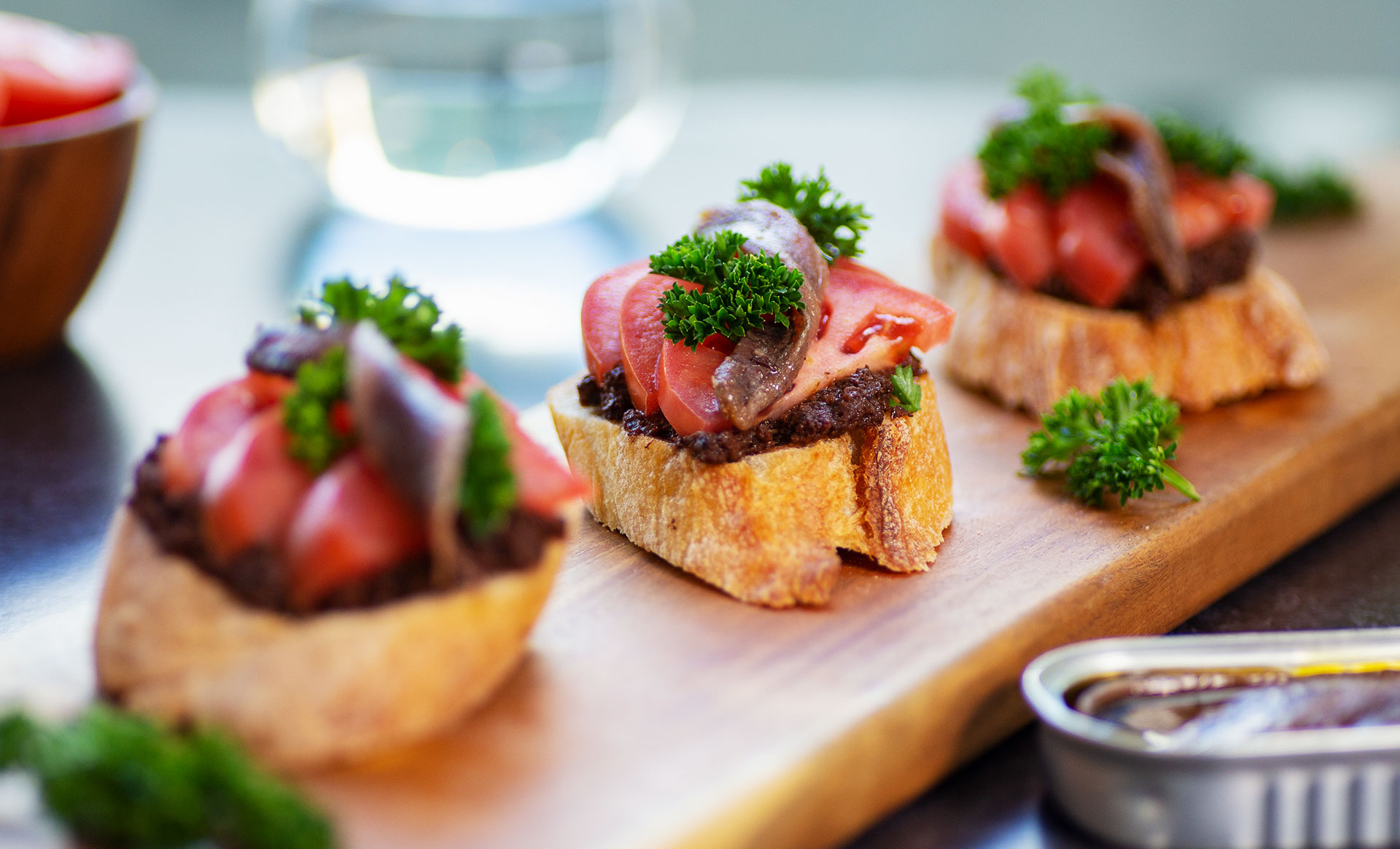 Spanish Montaditos With Anchovies
