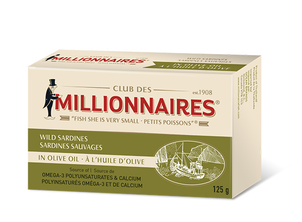 One can of Club Des Millionnaires Wild Sardines - in Olive Oil