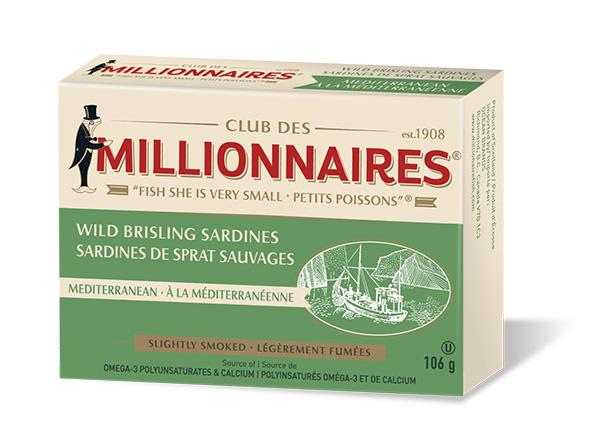 One can of Club Des Millionnaires Wild Brisling Sardines - Mediterranean