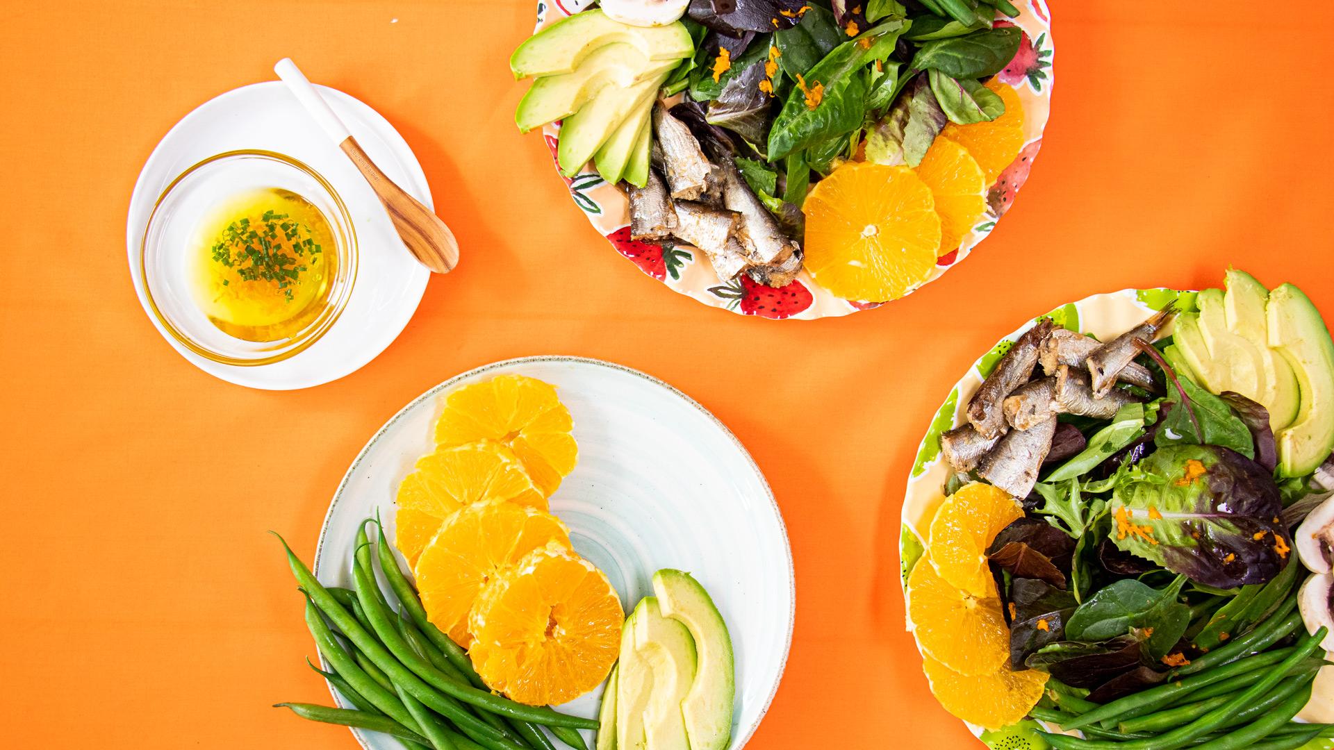 Sardine Summer Salad with Orange Vinaigrette