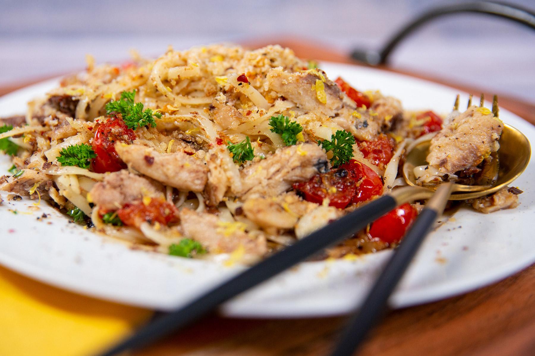Spicy Sardine Pasta