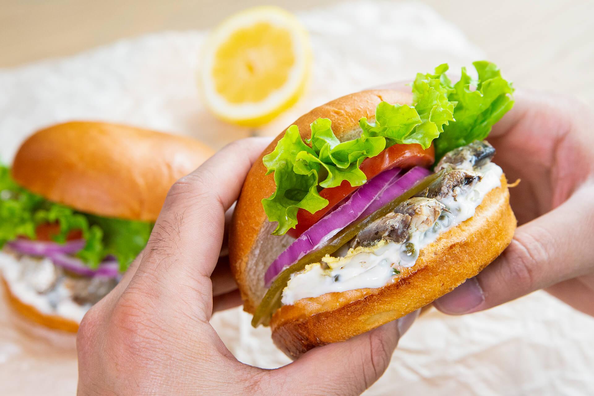 Sardine and Egg Sandwich