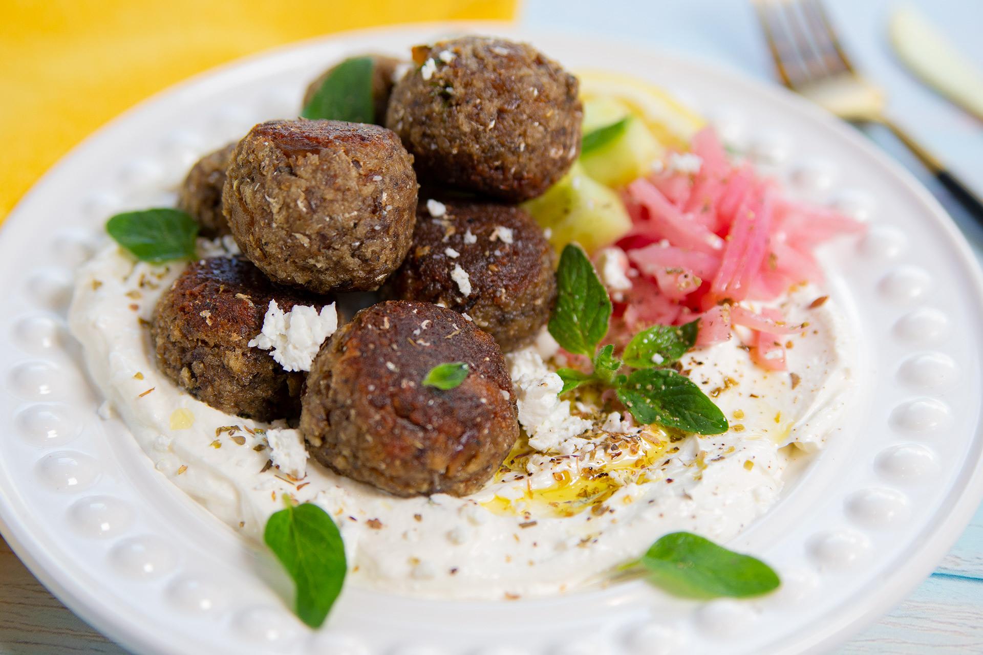 Mediterranean Meatball Platter