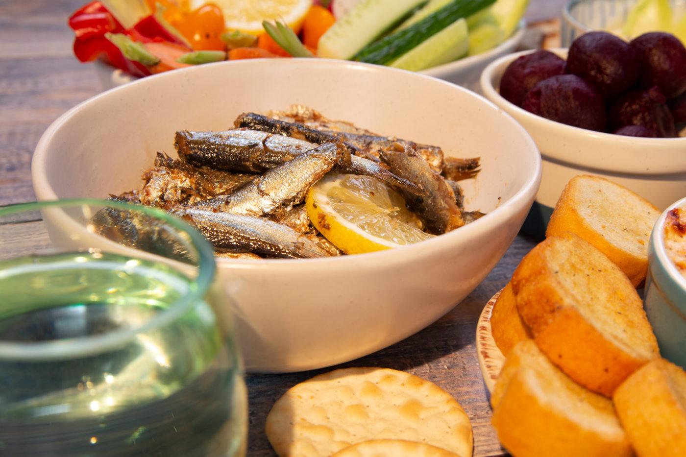 Sardines on Toast with Pickles