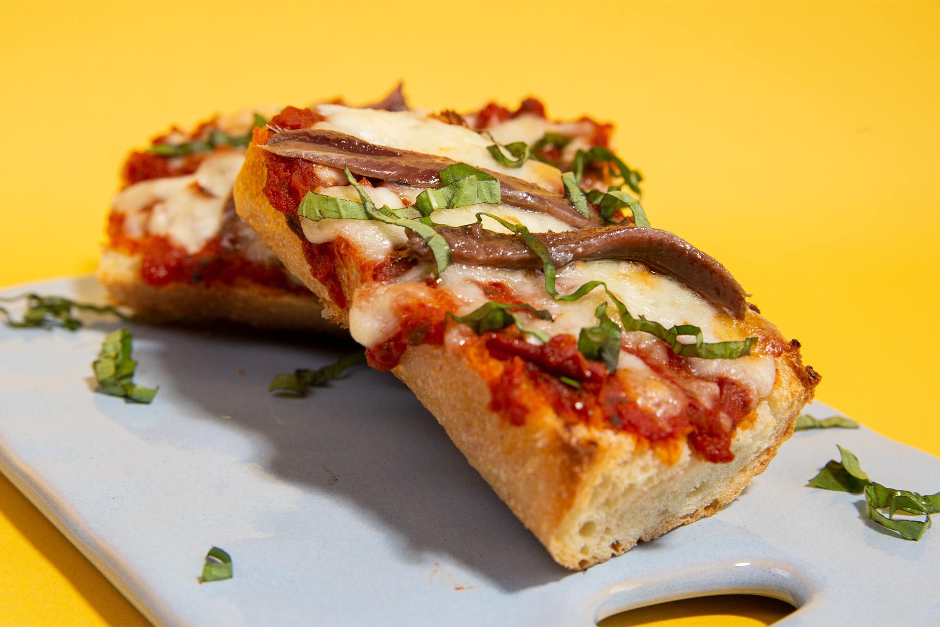 Anchovy Toast Margherita Style